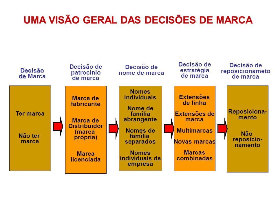 UMA VISÃO GERAL DAS DECISÕES DE MARCA