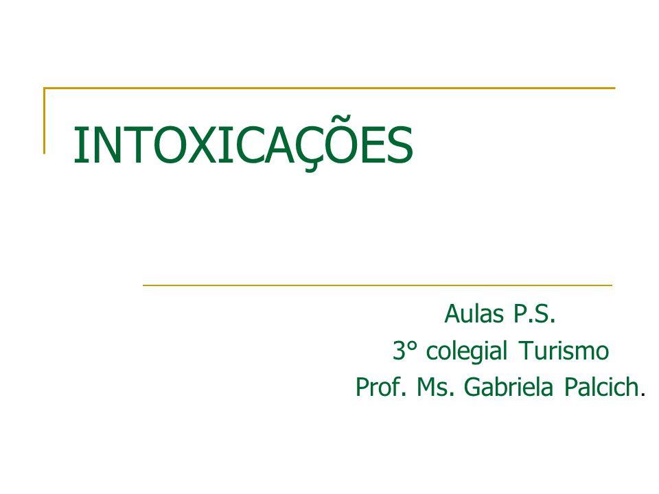 Aulas P.S. 3° colegial Turismo Prof. Ms. Gabriela Palcich.