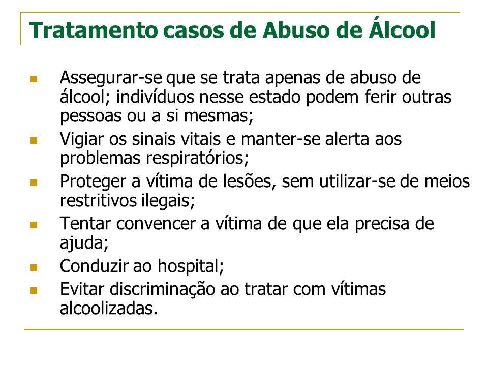 Tratamento casos de Abuso de Álcool