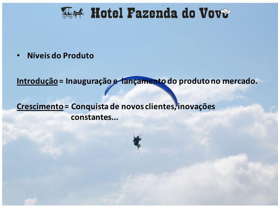 Níveis do Produto Introdução = Inauguração e lançamento do produto no mercado.