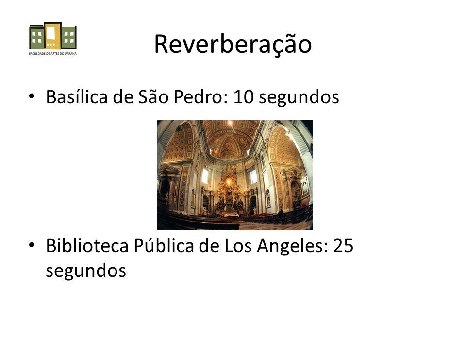 Reverberação Basílica de São Pedro: 10 segundos