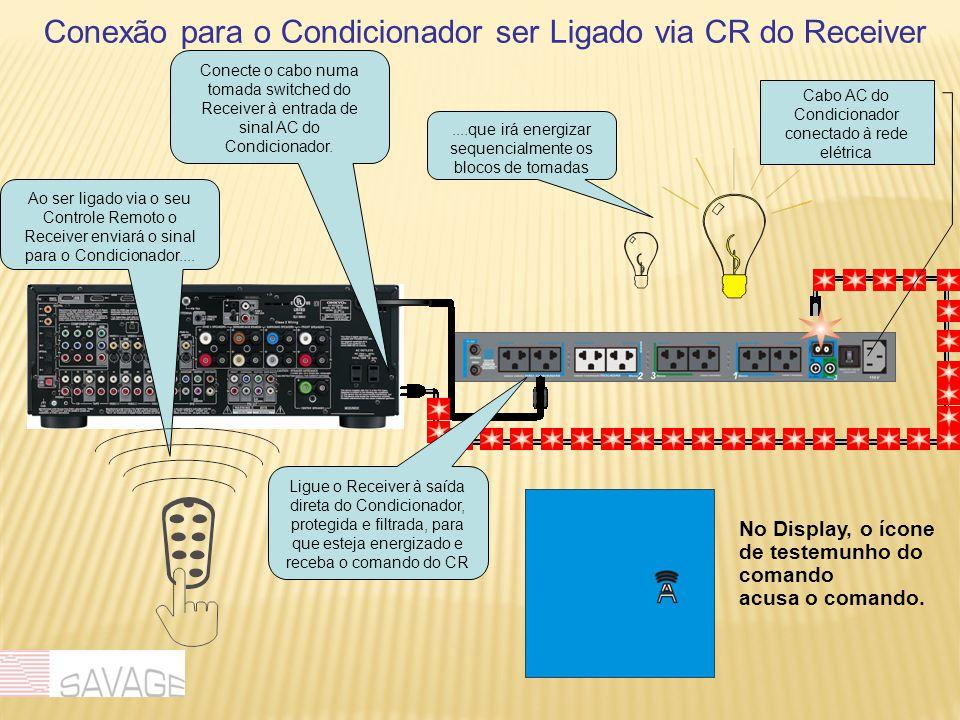 Conexão para o Condicionador ser Ligado via CR do Receiver