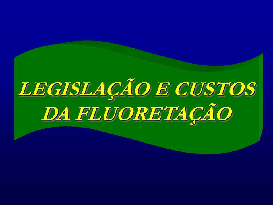 LEGISLAÇÃO E CUSTOS DA FLUORETAÇÃO