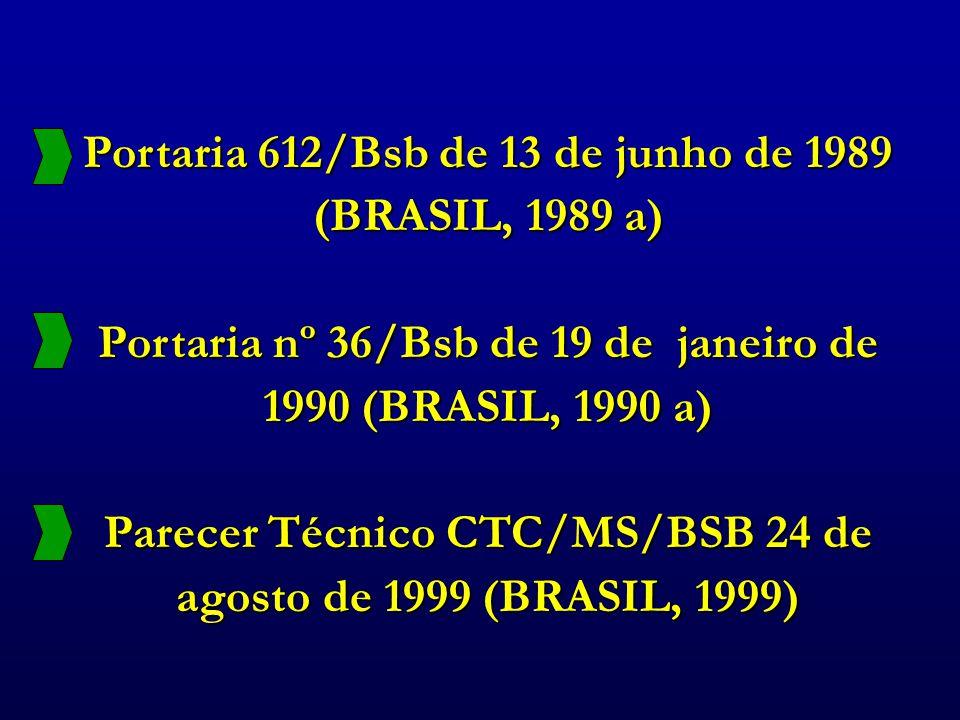 Portaria 612/Bsb de 13 de junho de 1989 (BRASIL, 1989 a)