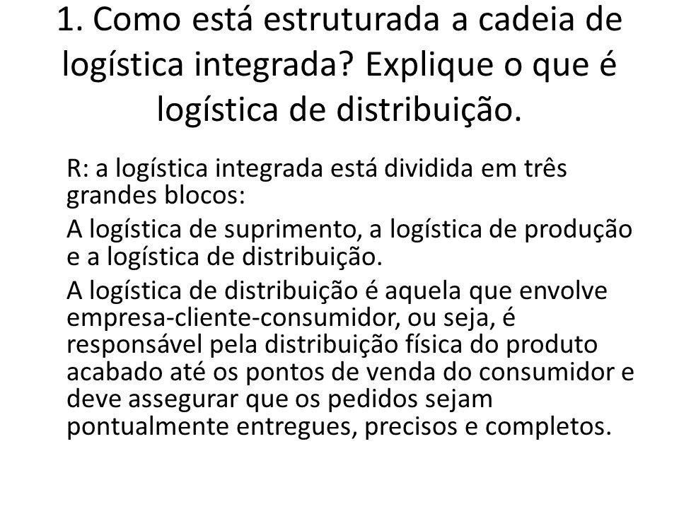 1. Como está estruturada a cadeia de logística integrada