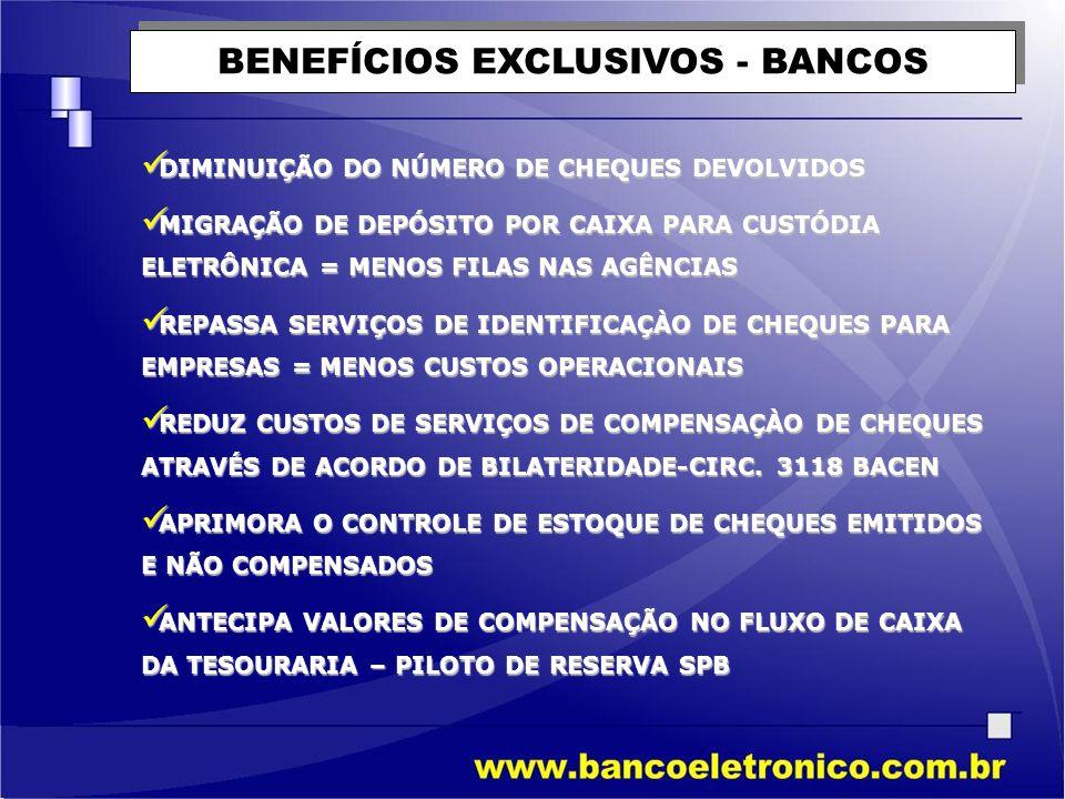 BENEFÍCIOS EXCLUSIVOS - BANCOS