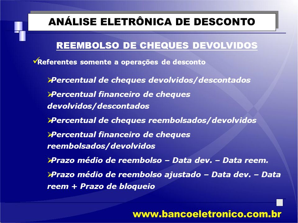 ANÁLISE ELETRÔNICA DE DESCONTO