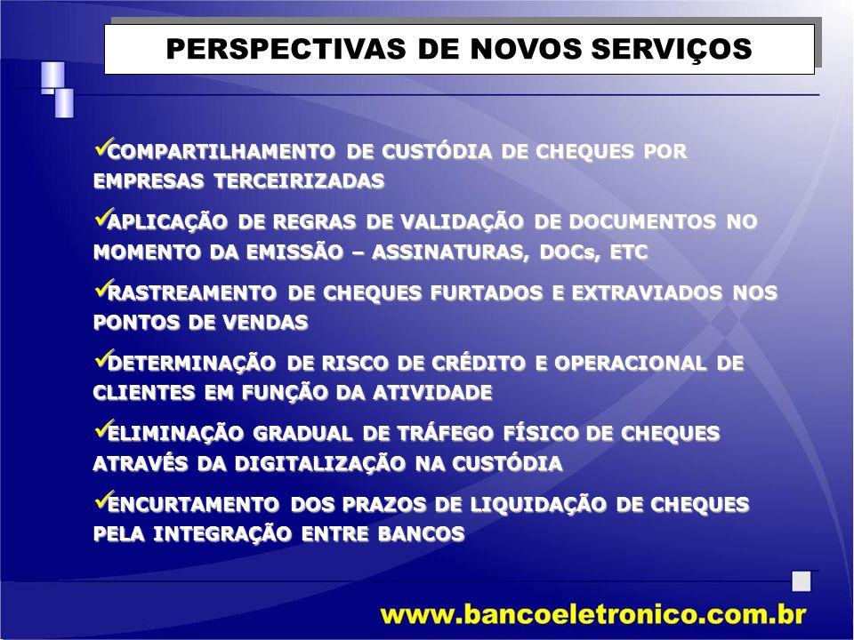 PERSPECTIVAS DE NOVOS SERVIÇOS