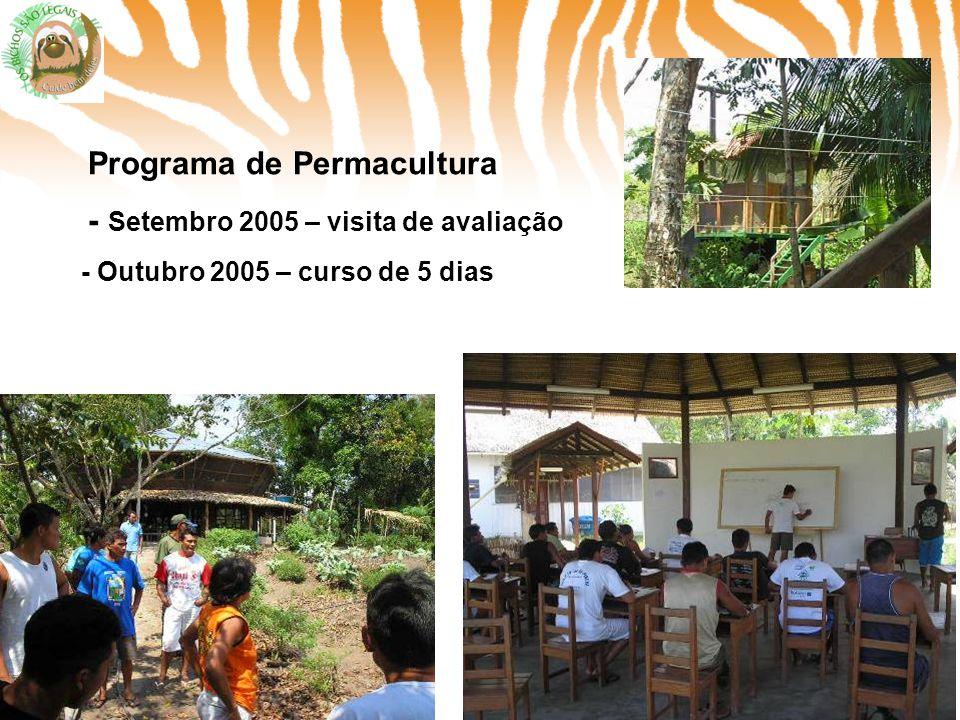 Programa de Permacultura - Setembro 2005 – visita de avaliação