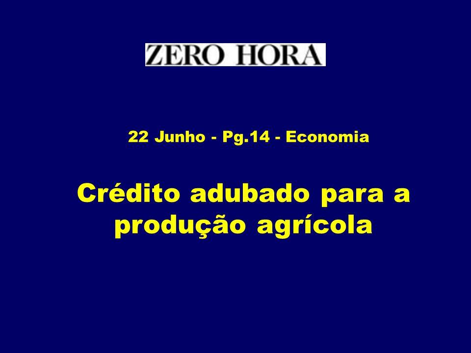Crédito adubado para a produção agrícola