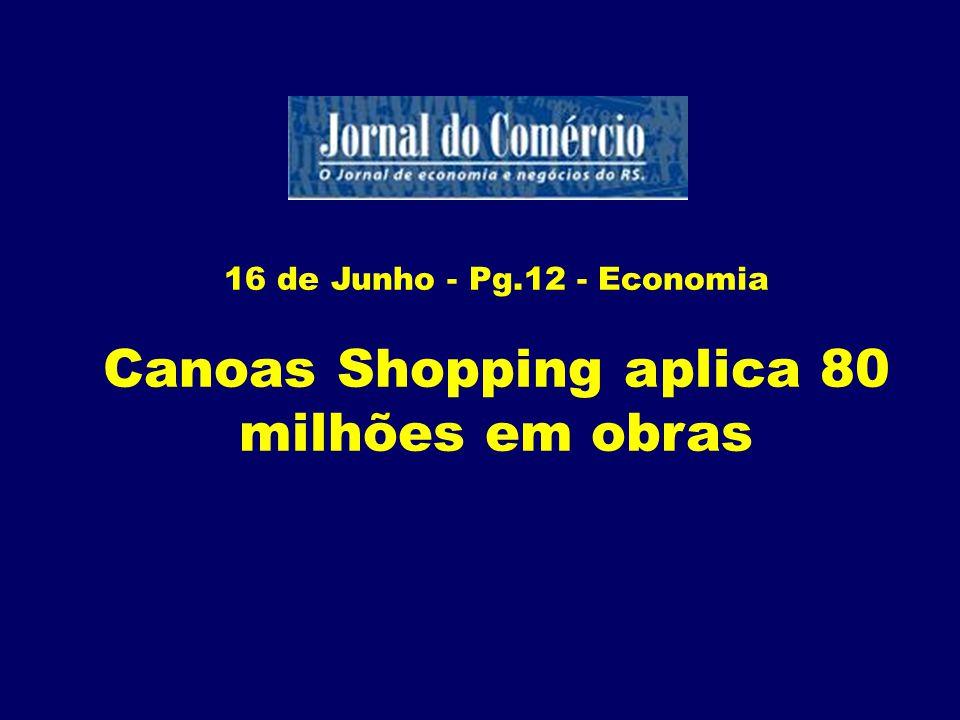 Canoas Shopping aplica 80 milhões em obras