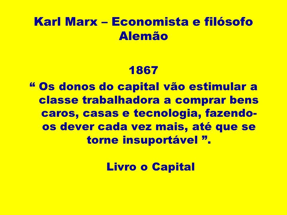 Karl Marx – Economista e filósofo Alemão