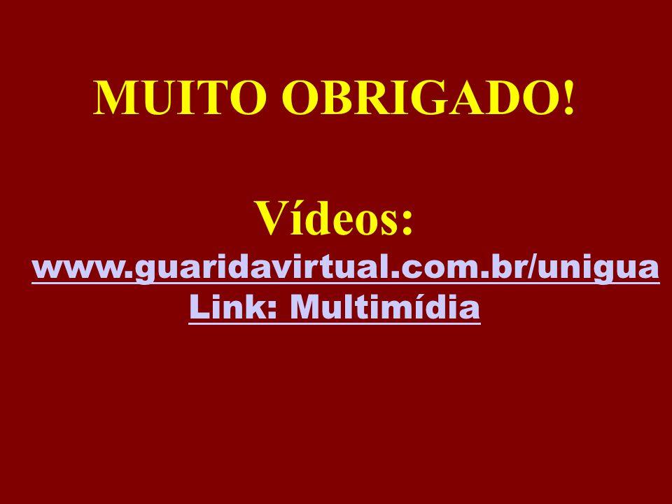 MUITO OBRIGADO! Vídeos: