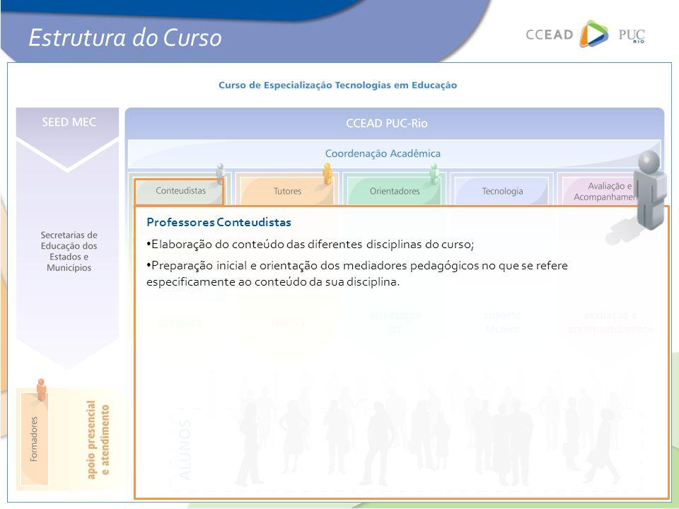 Estrutura do Curso Professores Conteudistas