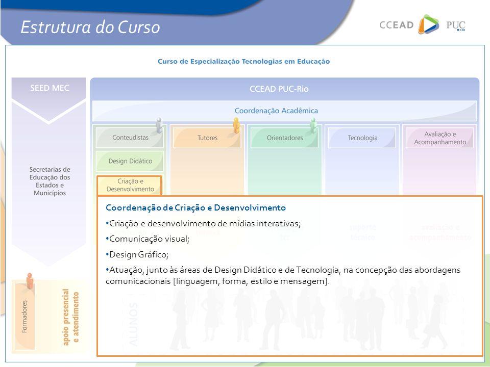 Estrutura do Curso Coordenação de Criação e Desenvolvimento