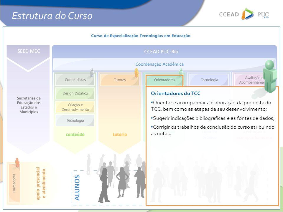 Estrutura do Curso Orientadores do TCC