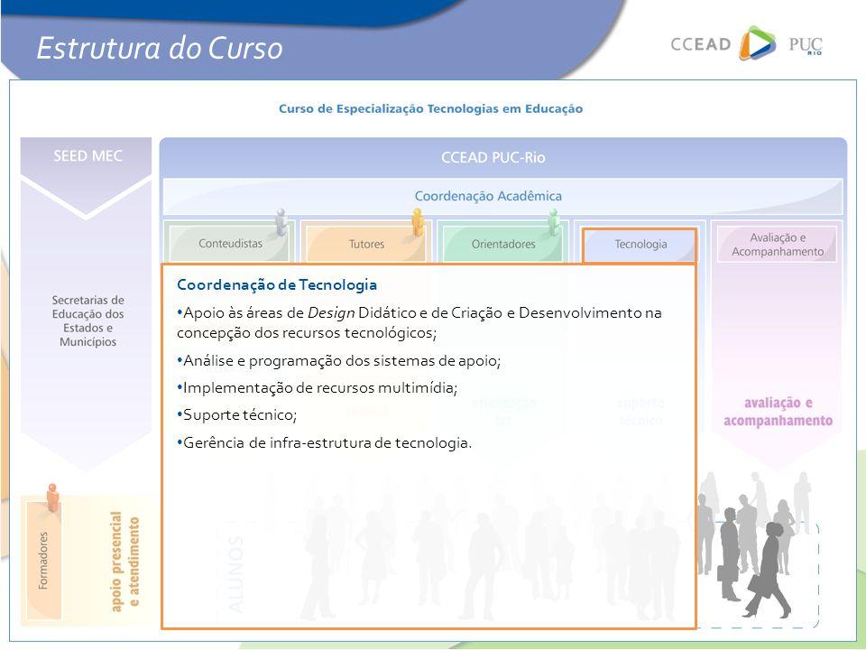 Estrutura do Curso Coordenação de Tecnologia
