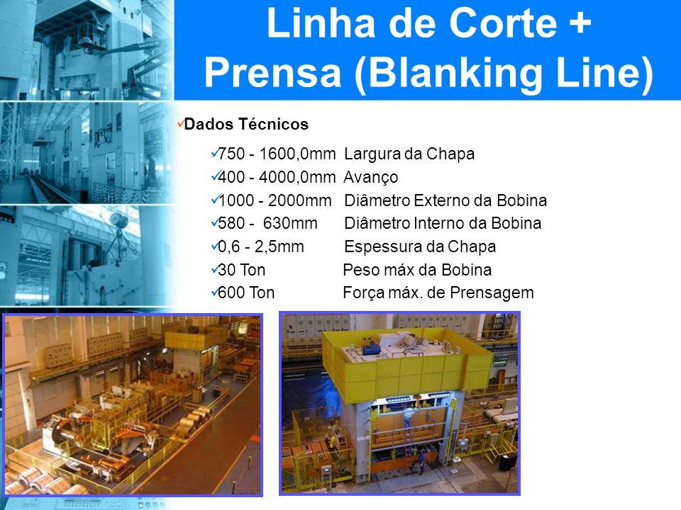 Linha de Corte + Prensa (Blanking Line)