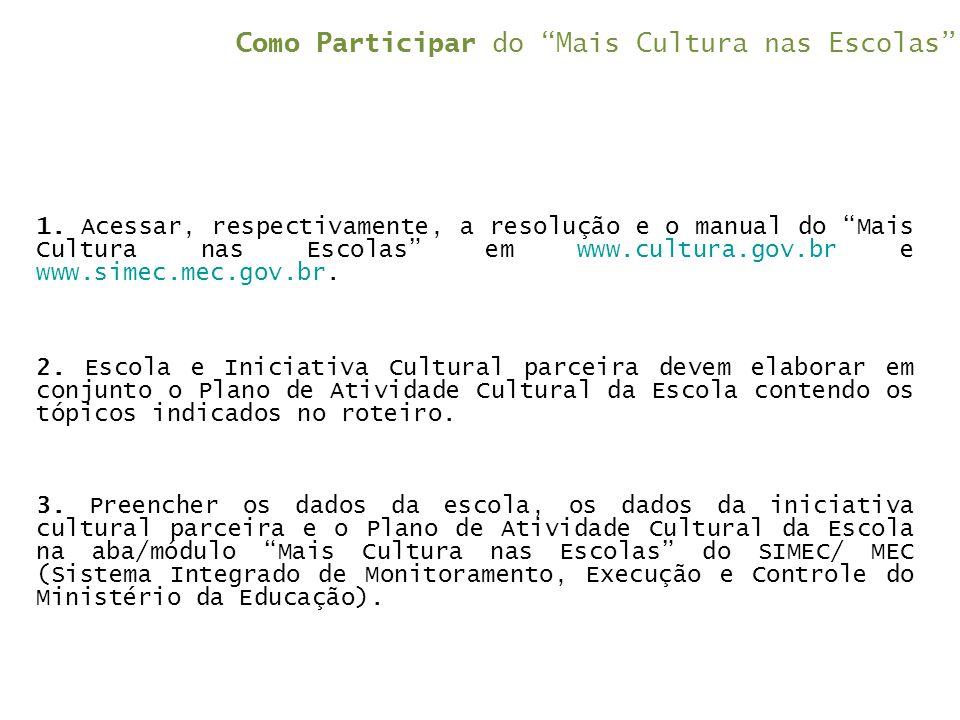 Como Participar do Mais Cultura nas Escolas