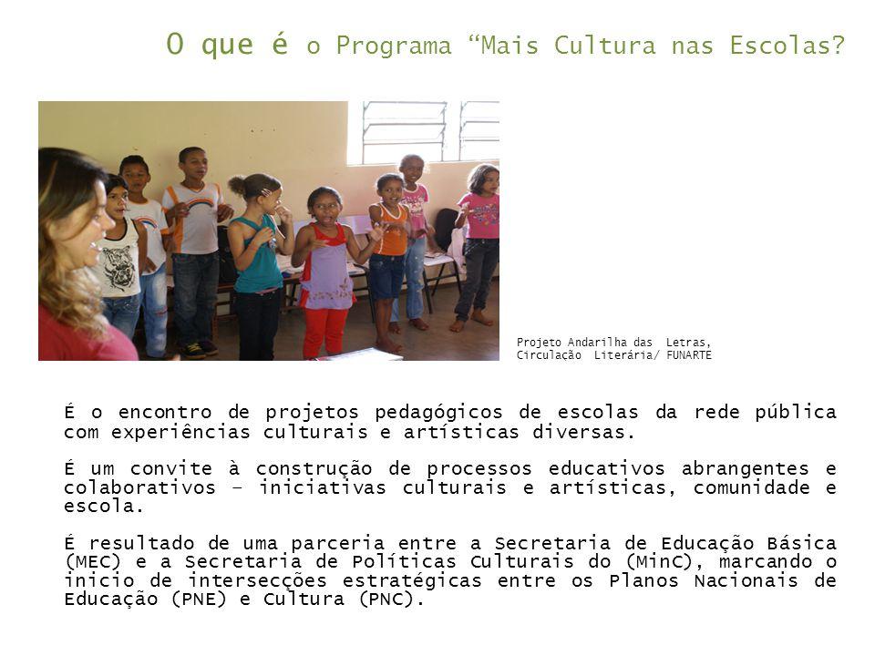O que é o Programa Mais Cultura nas Escolas