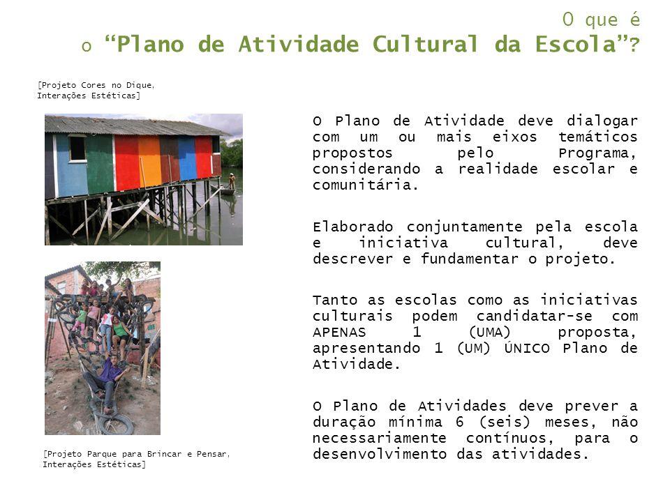 O que é o Plano de Atividade Cultural da Escola