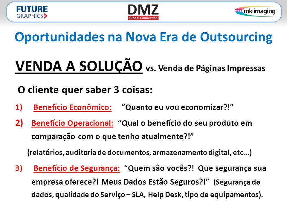 Oportunidades na Nova Era de Outsourcing
