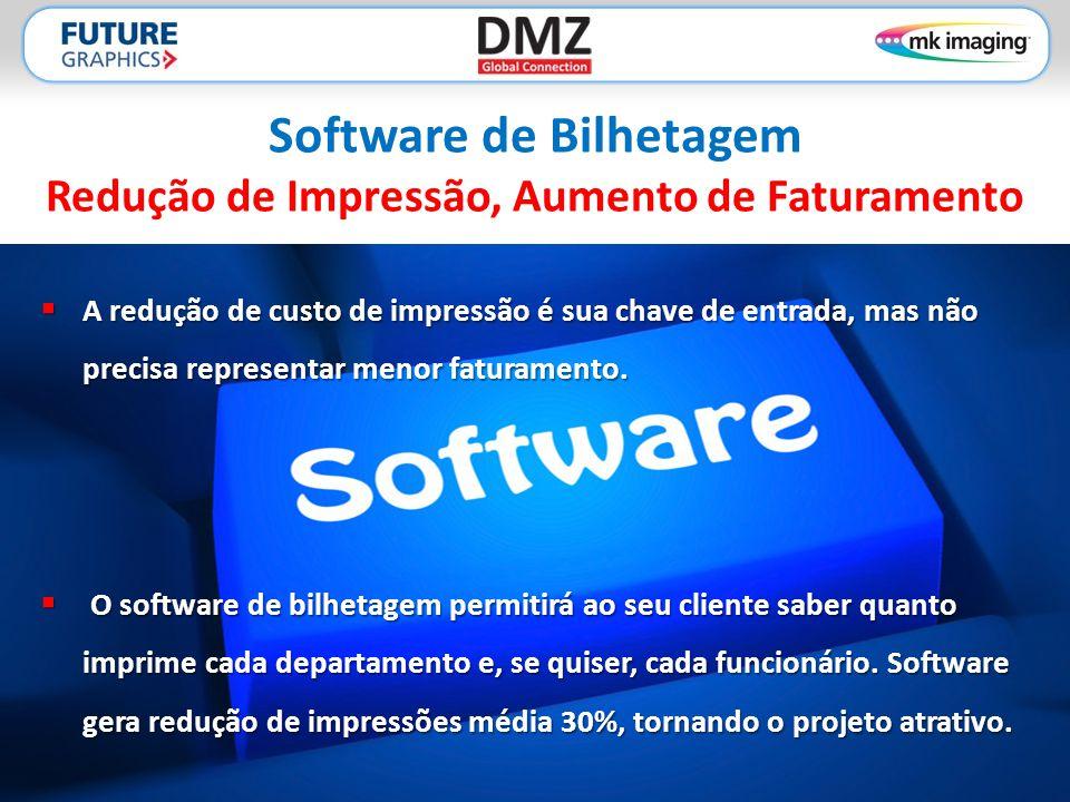 Software de Bilhetagem Redução de Impressão, Aumento de Faturamento