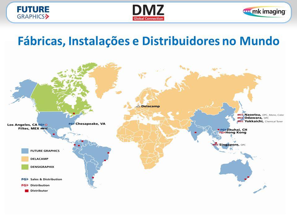 Fábricas, Instalações e Distribuidores no Mundo
