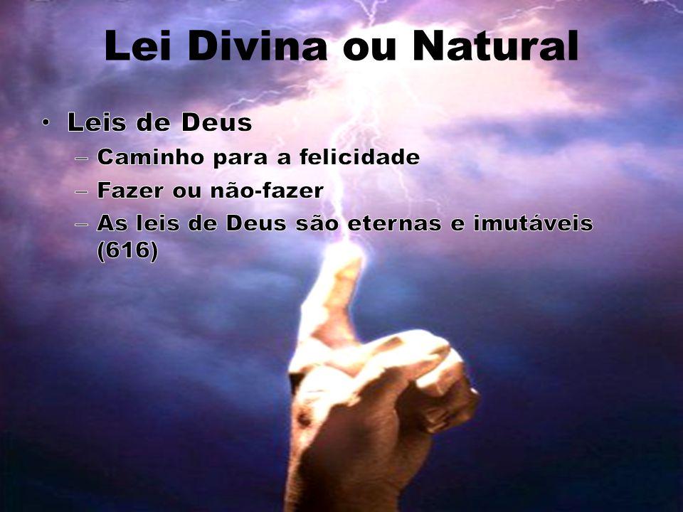 Lei Divina ou Natural Leis de Deus Caminho para a felicidade