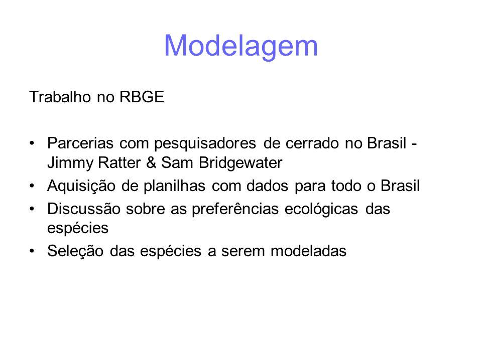 Modelagem Trabalho no RBGE