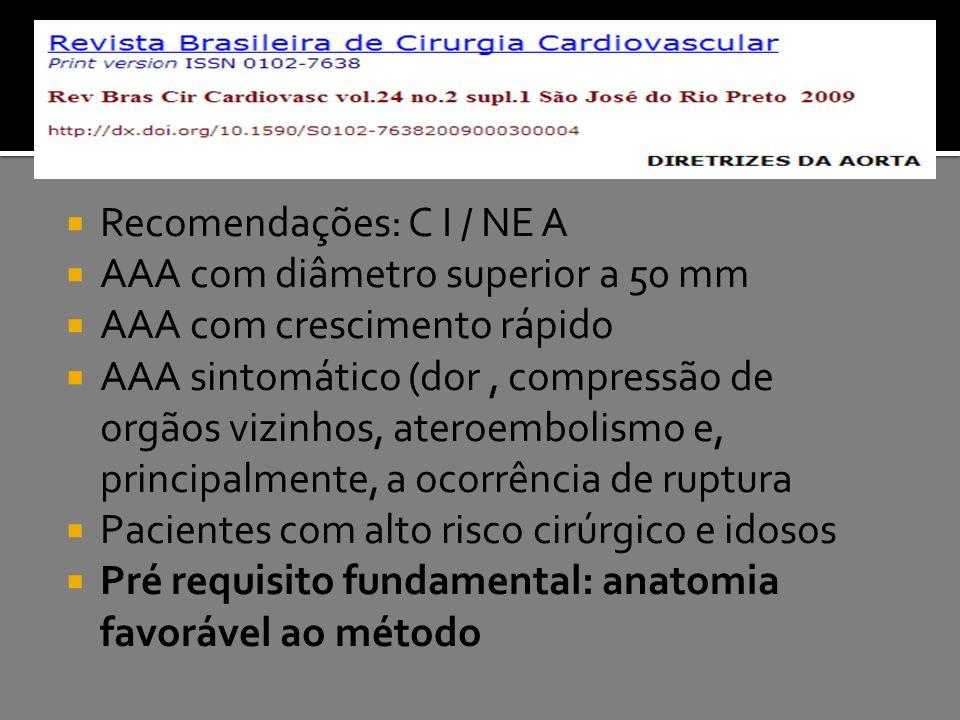 Recomendações: C I / NE A