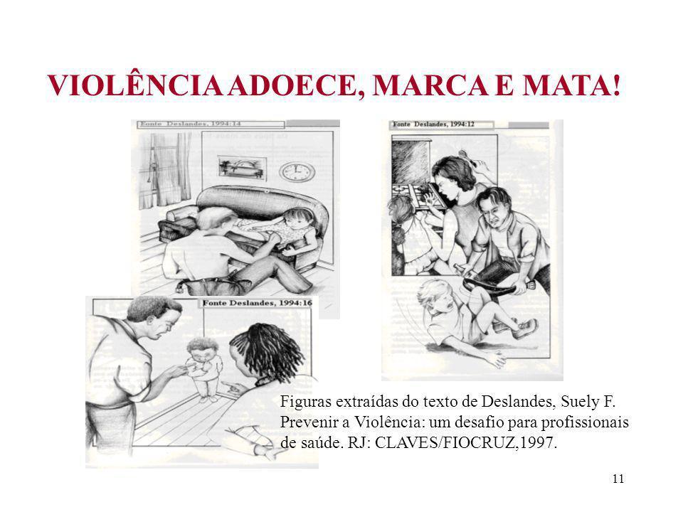 VIOLÊNCIA ADOECE, MARCA E MATA!