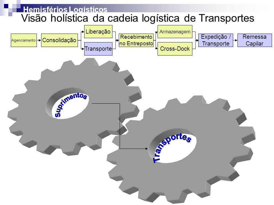 Visão holística da cadeia logística de Transportes