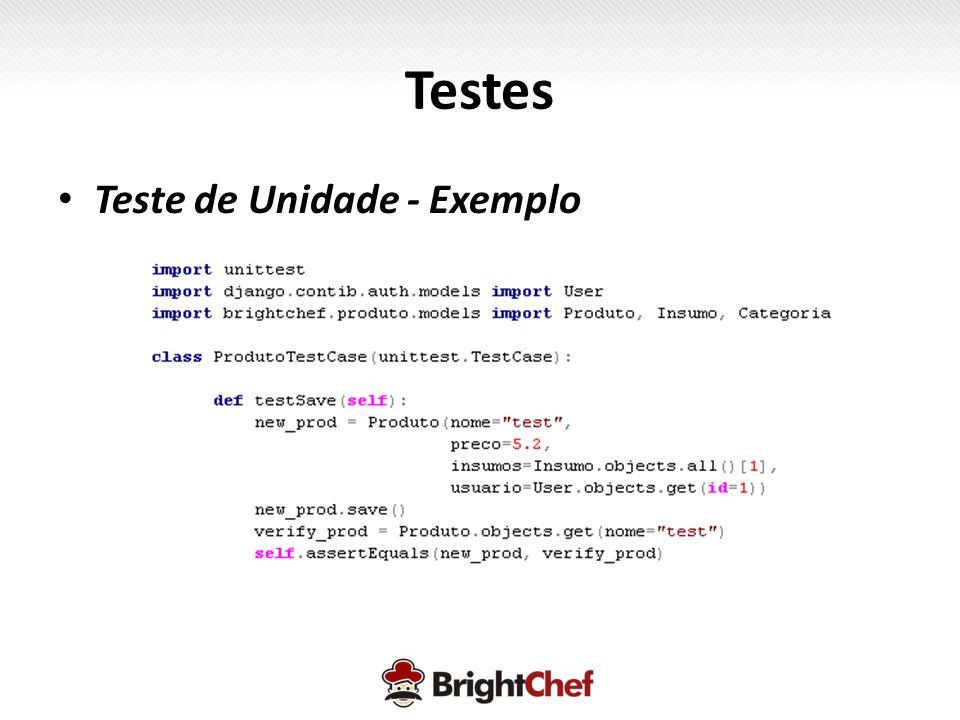 Testes Teste de Unidade - Exemplo