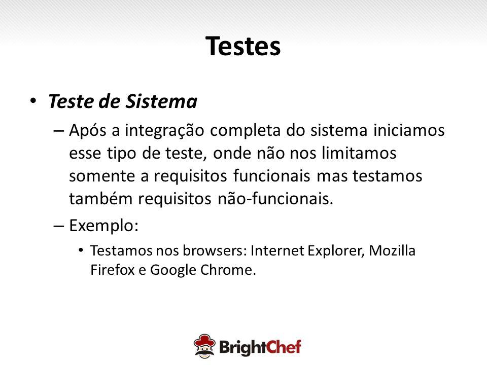 Testes Teste de Sistema