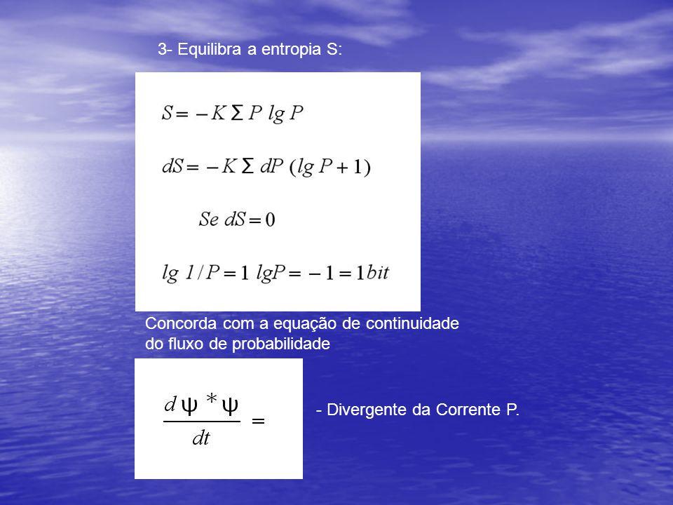3- Equilibra a entropia S: