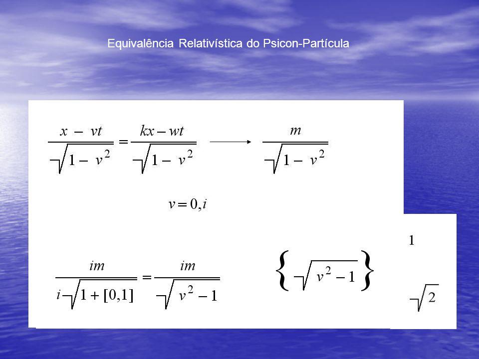 Equivalência Relativística do Psicon-Partícula