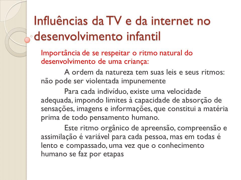 Influências da TV e da internet no desenvolvimento infantil