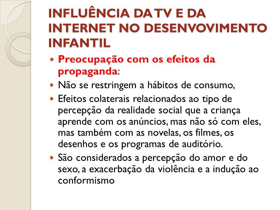 INFLUÊNCIA DA TV E DA INTERNET NO DESENVOVIMENTO INFANTIL