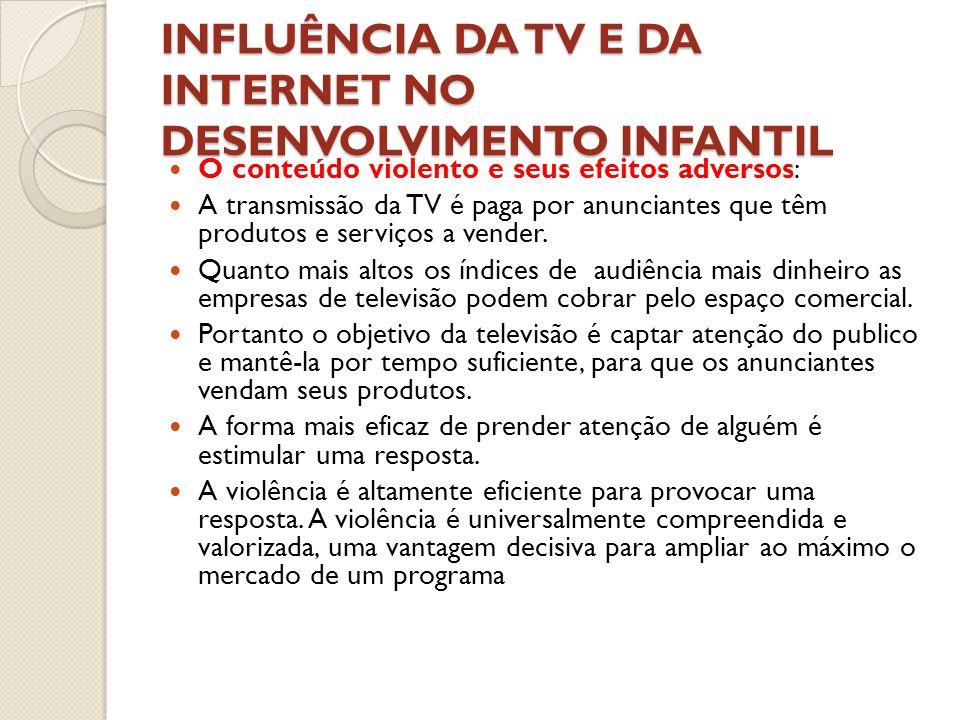 INFLUÊNCIA DA TV E DA INTERNET NO DESENVOLVIMENTO INFANTIL