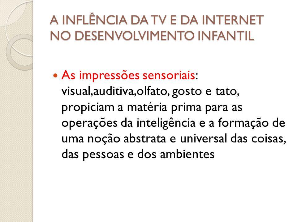 A INFLÊNCIA DA TV E DA INTERNET NO DESENVOLVIMENTO INFANTIL