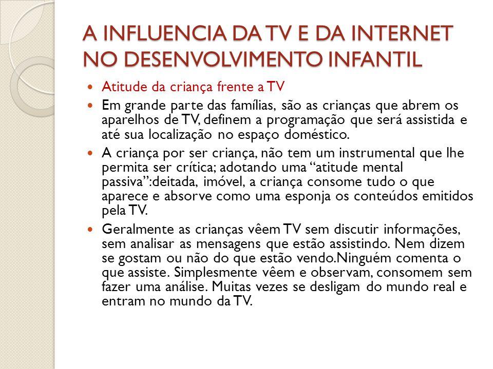 A INFLUENCIA DA TV E DA INTERNET NO DESENVOLVIMENTO INFANTIL