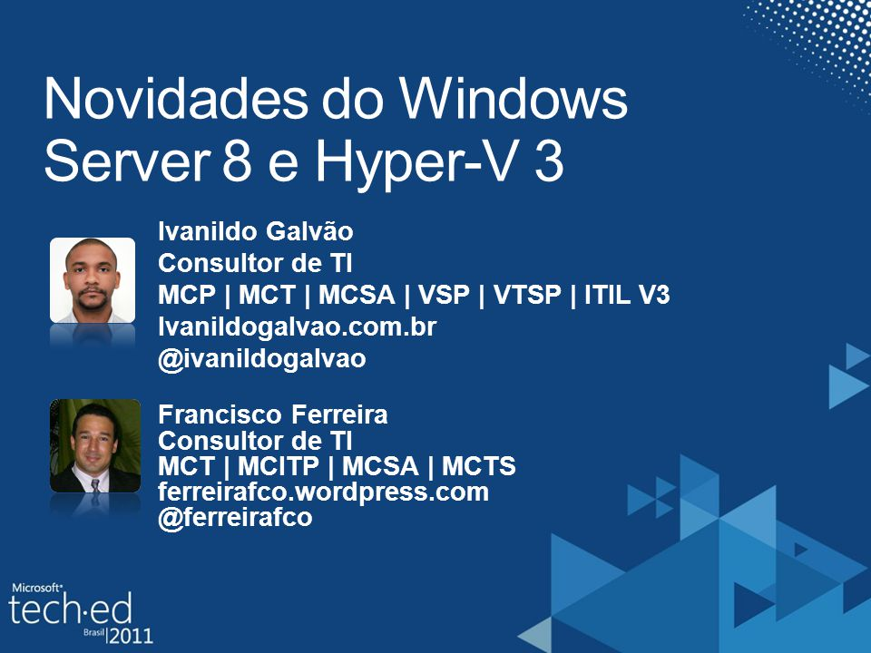 Novidades do Windows Server 8 e Hyper-V 3