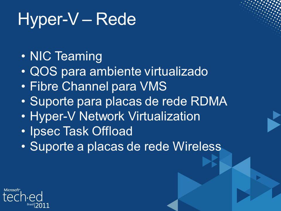 Hyper-V – Rede NIC Teaming QOS para ambiente virtualizado