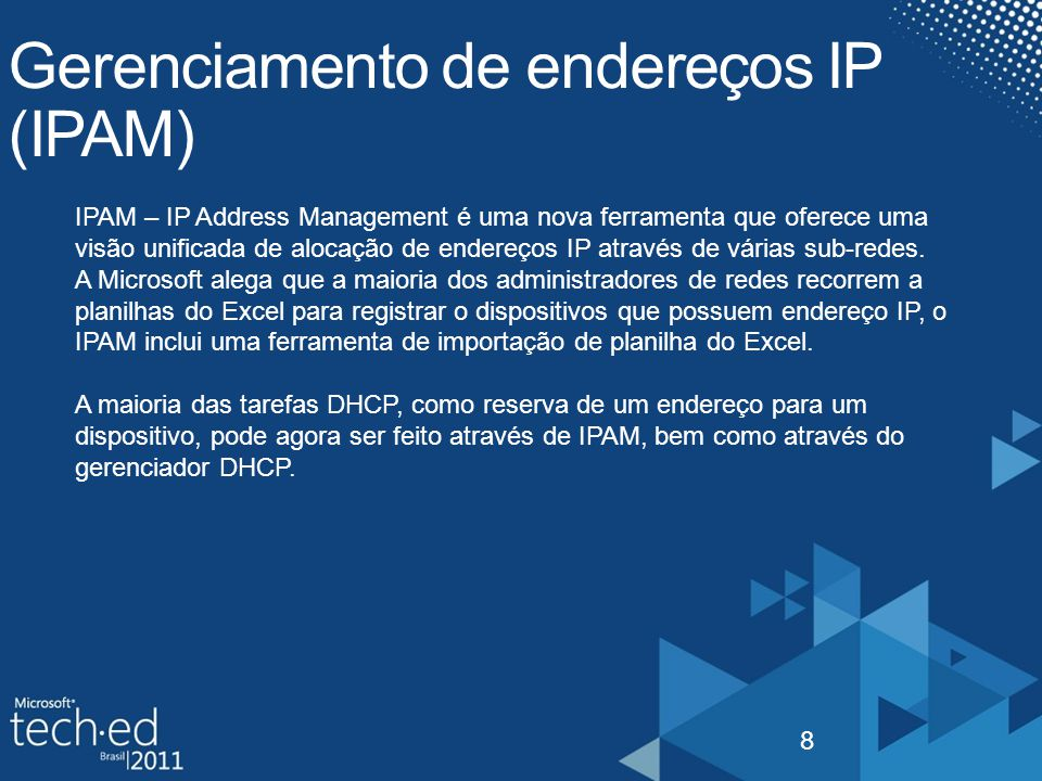 Gerenciamento de endereços IP (IPAM)