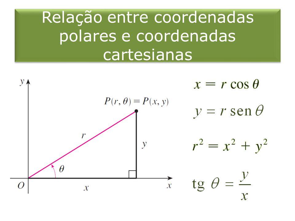 Relação entre coordenadas polares e coordenadas cartesianas