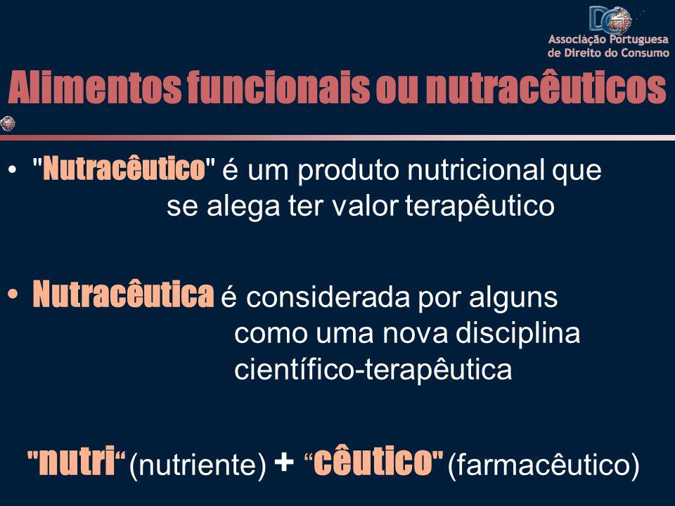 Alimentos funcionais ou nutracêuticos