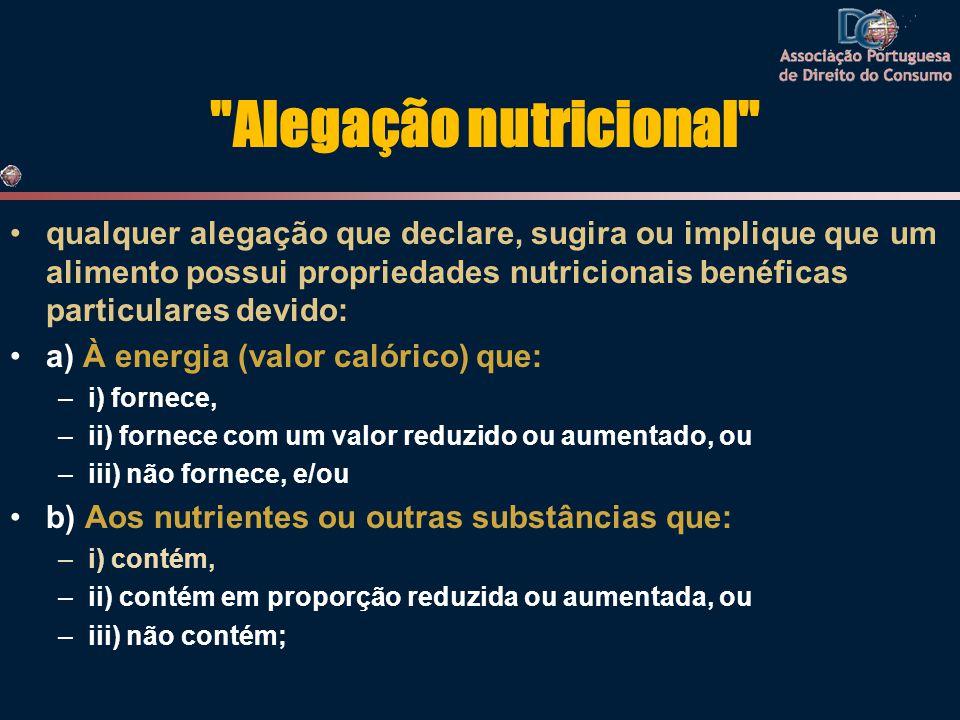 Alegação nutricional