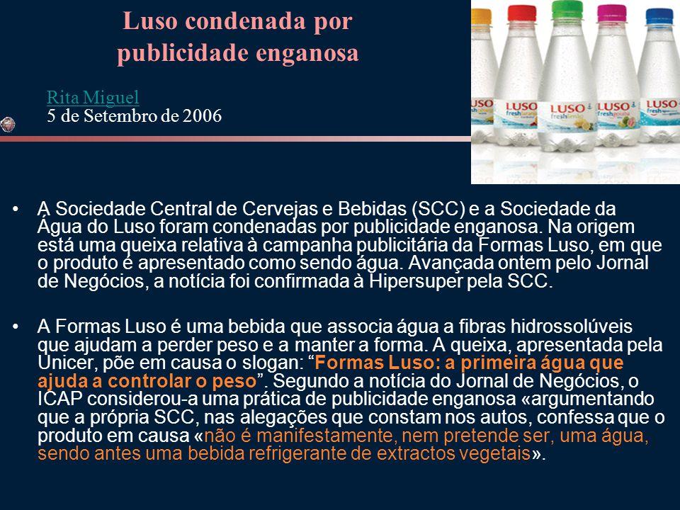 publicidade enganosa Luso condenada por
