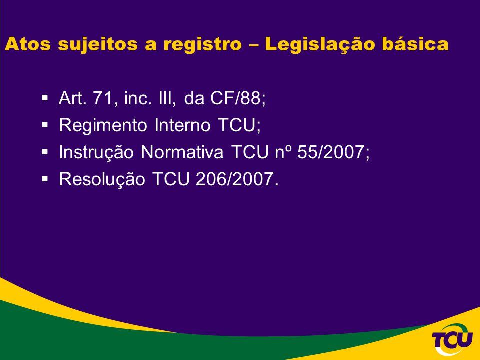 Atos sujeitos a registro – Legislação básica